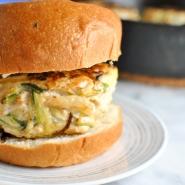roasted garlic basil whole30 turkey burgers