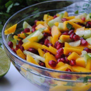 Mango Pomegranate Salad