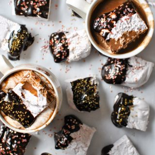 Red Wine Marshmallows + Dark Chocolate Wine Ganache