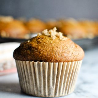 these pumpkin muffins are perfect for the start of fall! The recipe is super simple and they come out perfectly cakey & delicious. it just doesn