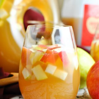 oh. my gosh. Caramel Apple Cider Sangria it