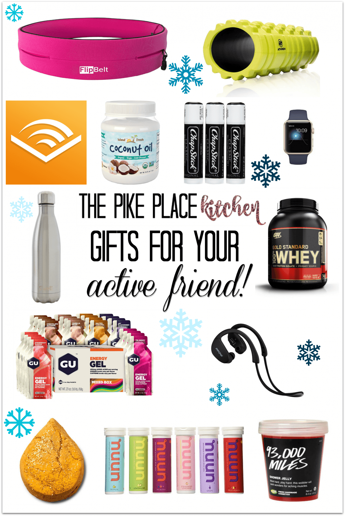 a collection of gift ideas for an active friend!