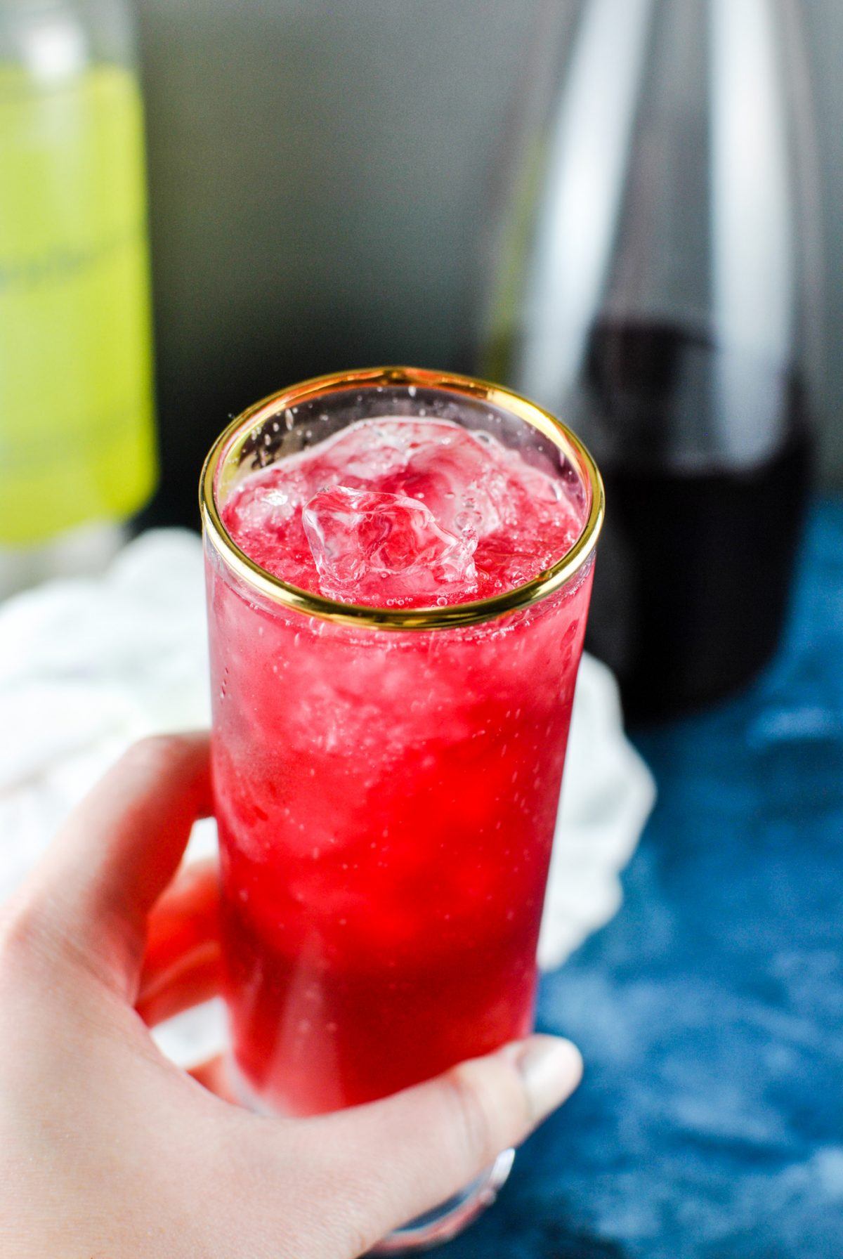 "SO. double berry vodka spritzers! you in? i thought so. these are SO delicious and worth the ""extra"" work to make them. sweet and tart... with a lovely ""are you sure theres really vodka in there"" vibe. 